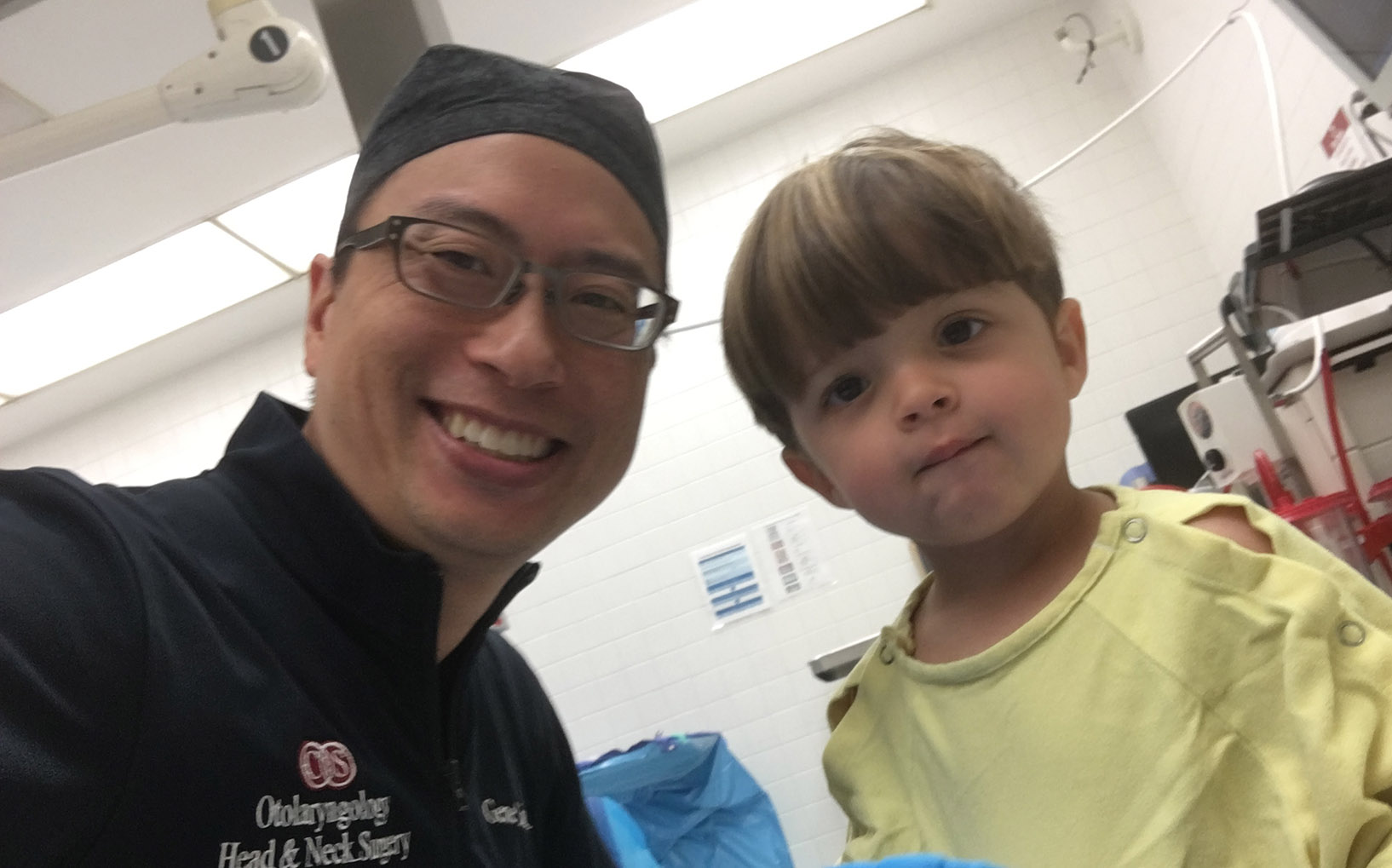 Dr. Liu with Ben Before the Surgery