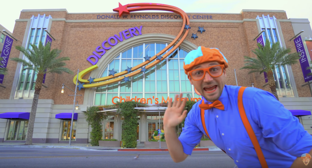 Blippi at the Discovery Children's Museum in Las Vegas